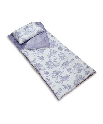 Lavender Toile Sleeping Bag & Pillow