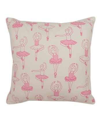 Pink Ballet Class Throw Pillow