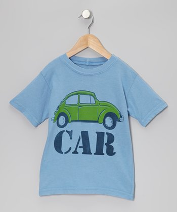 Blue 'Car' Tee - Toddler