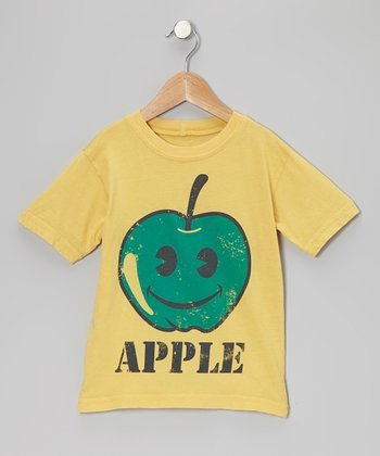 Yellow 'Apple' Tee - Toddler