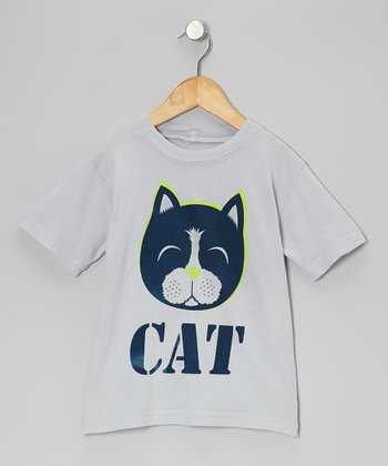 Gray 'Cat' Tee - Toddler