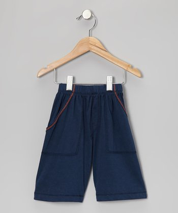 Royal Blue & Orange Shorts - Infant & Toddler