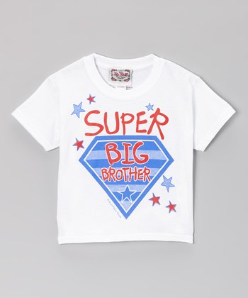 White 'Super Big Brother' Tee - Toddler & Boys