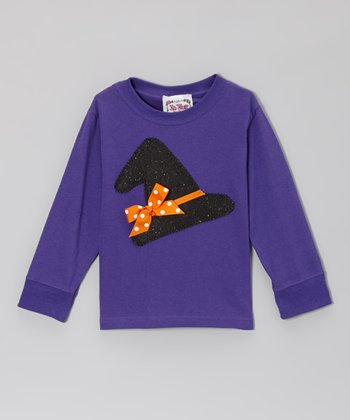 Purple Witch Tee - Toddler & Girls