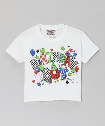 White 'Birthday Boy' Tee - Boys