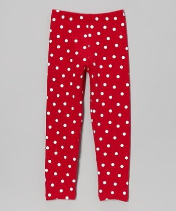 Red Polka Dot Pants - Toddler & Girls