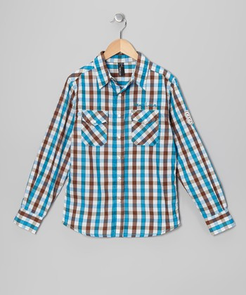 Methyl Blue Alain Button-Up - Boys