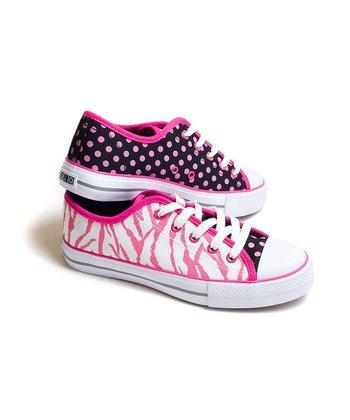 XOLO Shoes Pink & White Zebra Sneaker