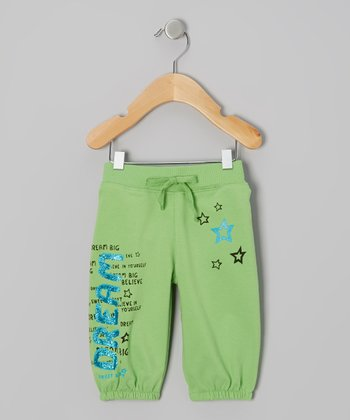 Green 'Dream Big' Knit Shorts