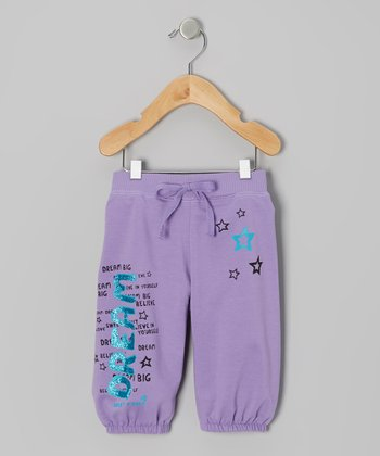 Purple 'Dream Big' Knit Shorts