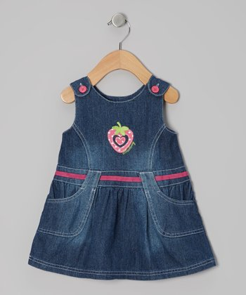 Denim Strawberry Jumper