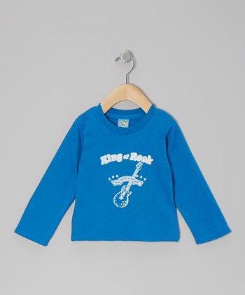 Blue 'King of Rock' Long-Sleeve Tee