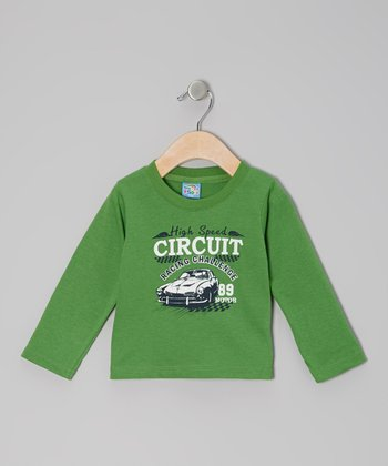 Green 'High Speed Circuit' Long-Sleeve Tee