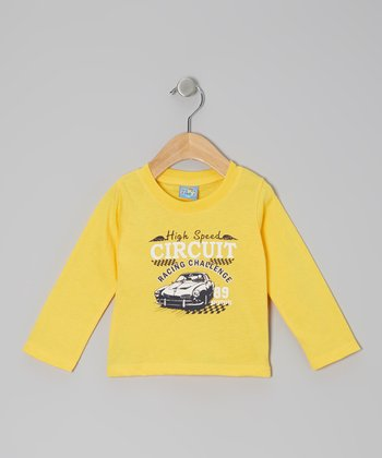 Yellow 'High Speed Circuit' Long-Sleeve Tee