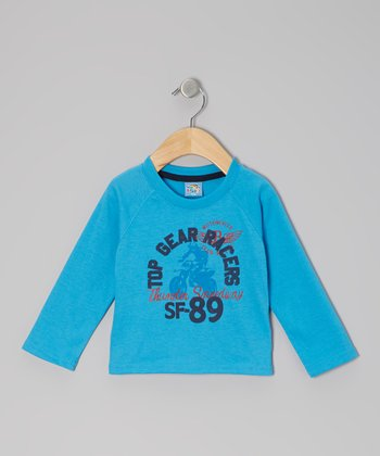 Blue 'Top Gear Racers' Long-Sleeve Tee