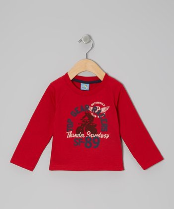 Red 'Top Gear Racers' Long-Sleeve Tee - Infant