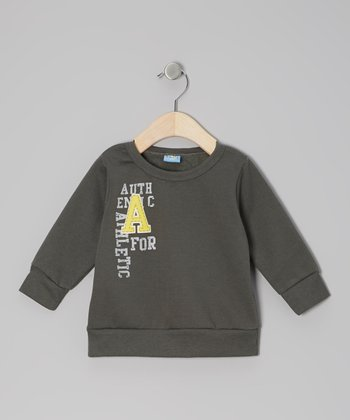 Gray 'A for Athletic' Pullover Sweatshirt - Infant