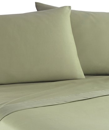 Sage Pleated Hem 800-Thread Sheet Set