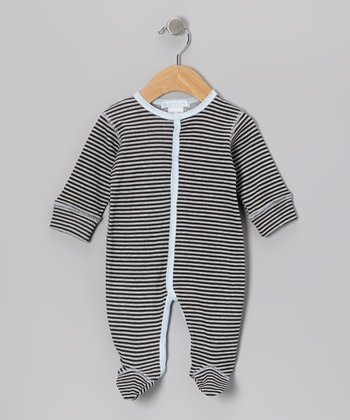 Gray Stripe Footie - Infant