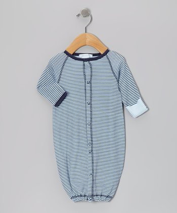Navy Stripe Convertible Gown - Infant