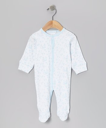 Sky Blue Clouds Footie - Infant