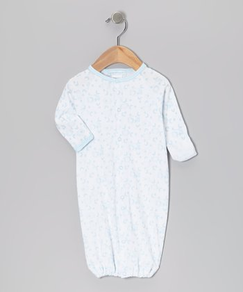 Sky Blue Clouds Convertible Gown - Infant