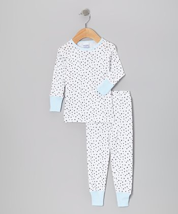 Sky Blue Stars Pajama Set - Infant, Toddler & Kids