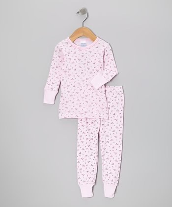 Light Pink Bouquet Pajama Set - Infant & Toddler