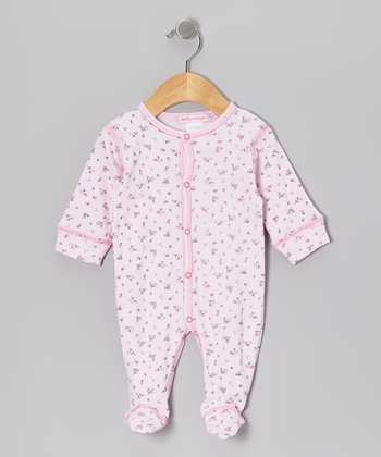 Light Pink Bouquet Footie - Infant