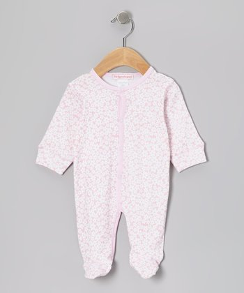 Pink Daisy Footie - Infant