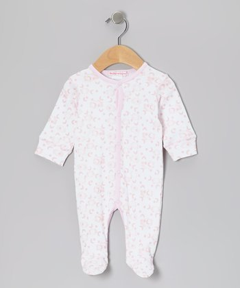 Pink Clouds Footie - Infant