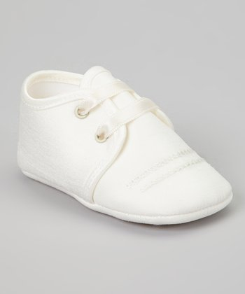 Ivory Embroidered Shantung Shoe