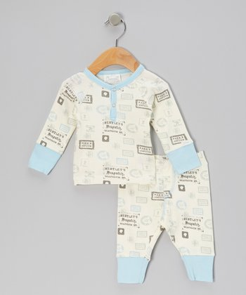 Blue Stamps Pajama Top & Bottoms - Infant & Boys