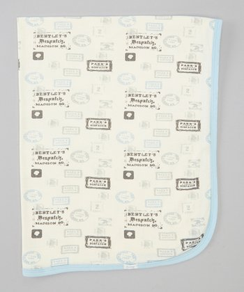 Blue Stamps Stroller Blanket