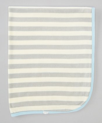 Gray Stripe Stroller Blanket