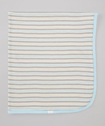 Blue Stripe Stroller Blanket