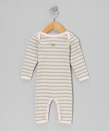 Pink Stripe Playsuit - Infant