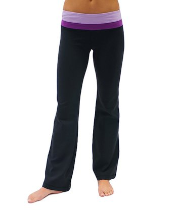 Black & Plum Balance Yoga Pants
