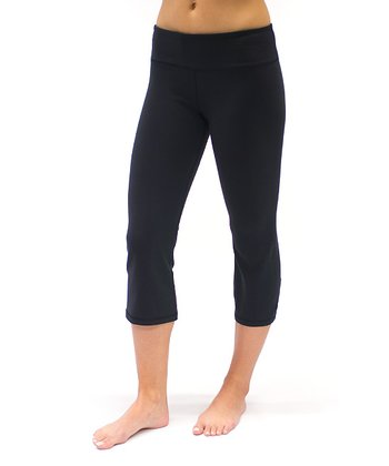 Black Plank Capri Leggings