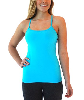 Turquoise Flash Lotus Racerback Tank