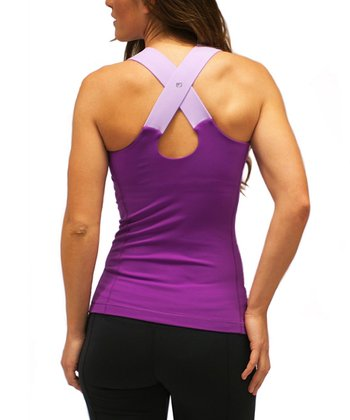 Plum & Lilac Endurance Cross-Back Tank