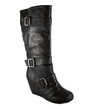 Black Kantana Wedge Boot