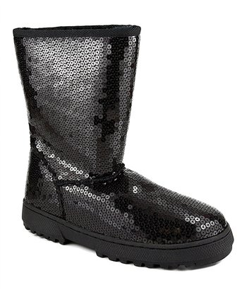 Black Sequin Annika Boot