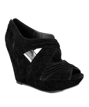 Black Leighton Wedge