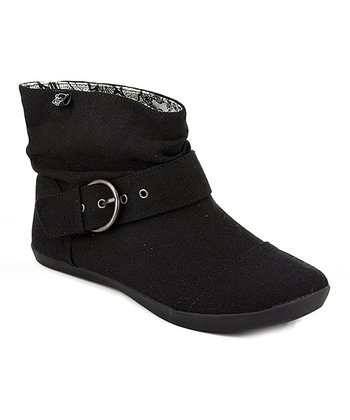 Black Canvas Tricky Boot