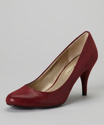 Dark Red Courteous Pump