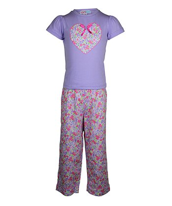 Lilac Summer Garden Pajama Set - Toddler & Girls