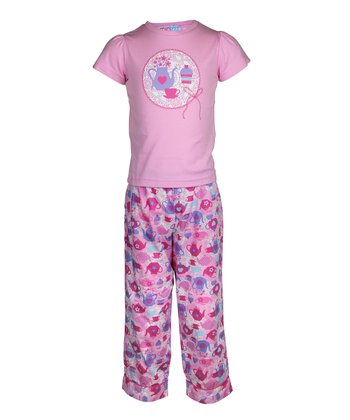 Pink High Tea Pajama Set - Toddler & Girls
