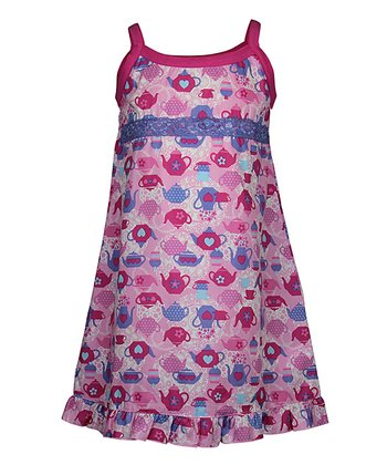 Pink High Tea Nightgown - Toddler & Girls
