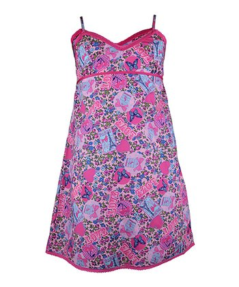 Pink Love Paris Nightgown - Girls